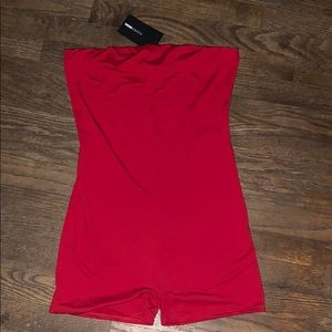 FASHION NOVA BUENOS AIRES ROMPER RED LARGE
